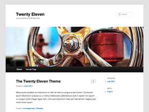 WP theme 2011 screenshot