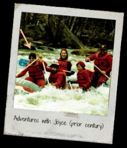 Joyce Kaye - white water rafting