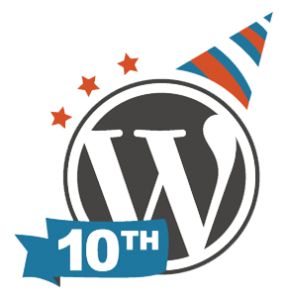 10th anniversary of the first WordPress release